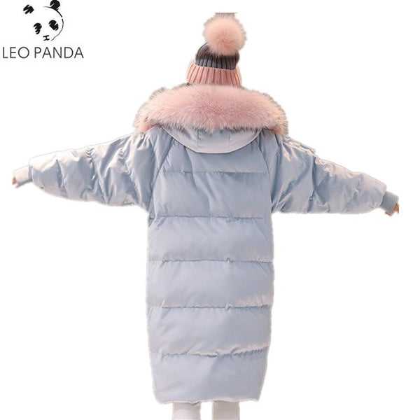 Superior quality Down Jackets New Women's wWinter Down Jackets Warm Duck Down Women Long Parka Raccoon Fur Coat Female Jacket