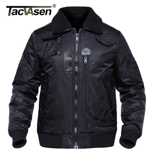 Men Bomber Jacket Thick Winter Parkas Clothe Army Military Motorcycle Jacket Men's Pilot Flight Jacket Coat TD-DSPD-003