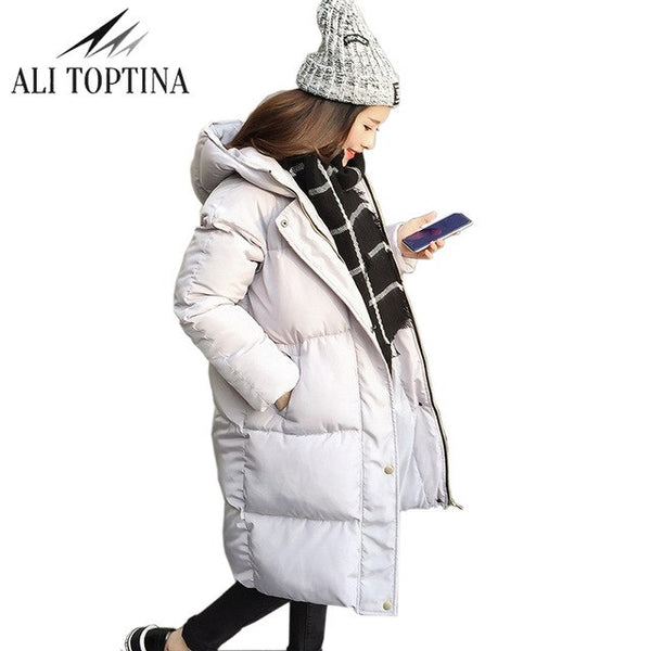 Thick 2020 Winter Jacket Coat Women Down Parka Coat Plus Size Female Long Warm Hooded Coat Snow Wear Wadded Padded  Lady Jacket