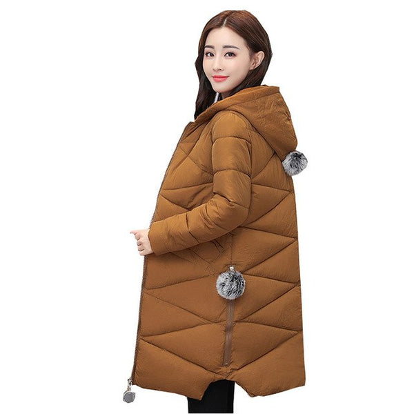 Ukraine 2017 Plus size Hooded Winter Women Down Cotton Coat Parkas Thick Warm Female Jacket Quality Fashion Femme Outer wear W09