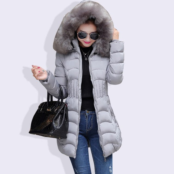 Ukraine Plus Size Winter Coat Women 2020 Fur Collar Hooded Female Coats Long Parkas for Snow Wear
