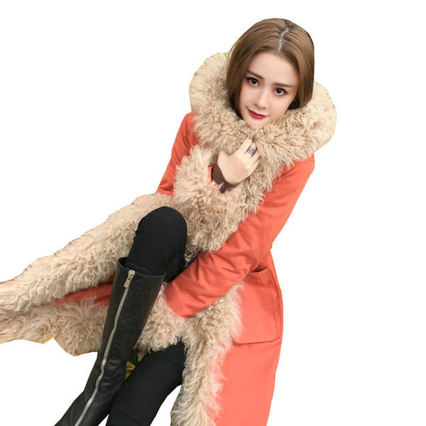 Winter Womens Plus size Beach Wool Down Jackets Long Coat 2020New High quality Warm Thick Parkas Female Hooded Loose Overcoat309