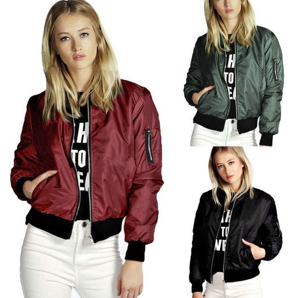Women Clothing Plus Big Size Stylish Womens Ladies Clothes Tops Jackets Autumn Coats Outfits Casual Zip Up Biker Coat