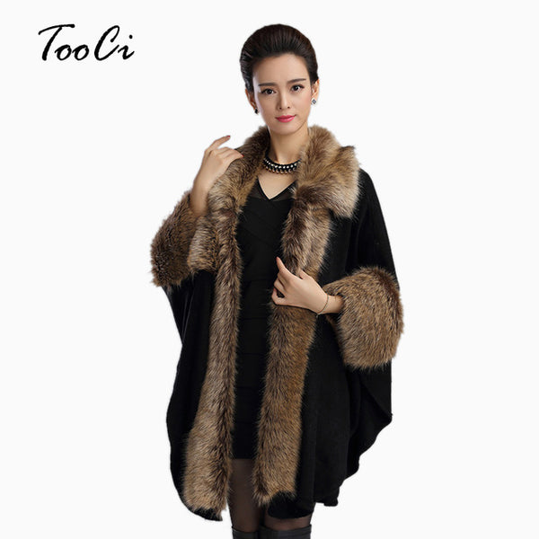 Women Faux Fur Coat Female Fashion Womens Black Winter Leather Grass Synthetic Faux Fox Fur Thick Long Cardigan Outerwear
