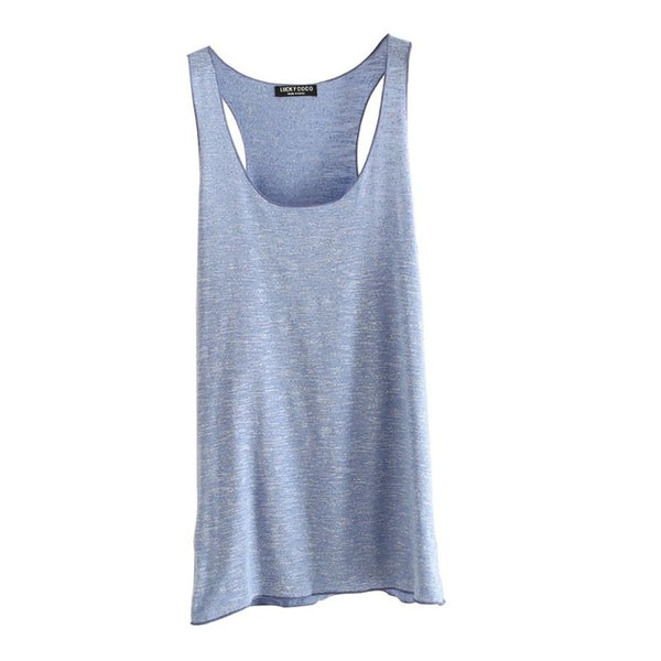 Women Fitness Tank Top Female T Shirt Summer Vest Loose Model Women T-shirt Cotton O-neck Slim Tops Clothes Plus Size