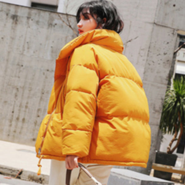 Women parkas down cotton padded jacket winter female casual thick warm bread coats loose oversize soild wadded jackets overcoats