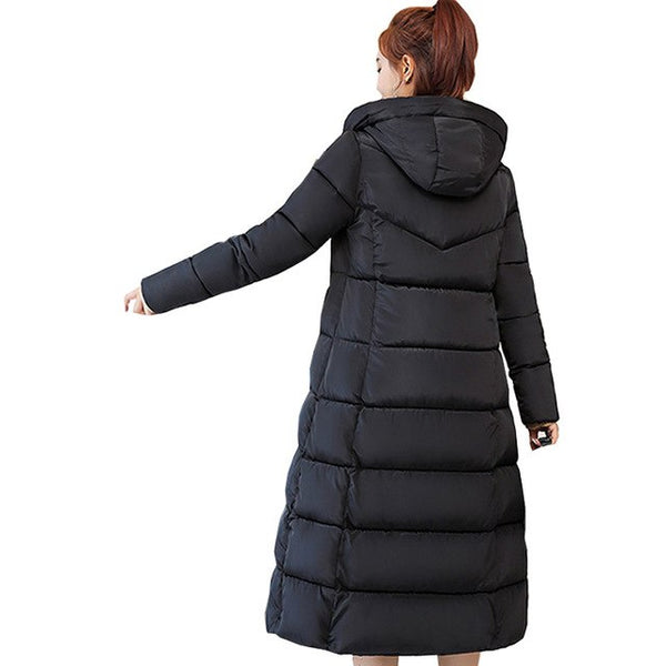 Women popular new 2018 Direct Selling Full New Korean Long Lady's Coat Thickened Padded Jacket Winter Down Parka Women Jacket