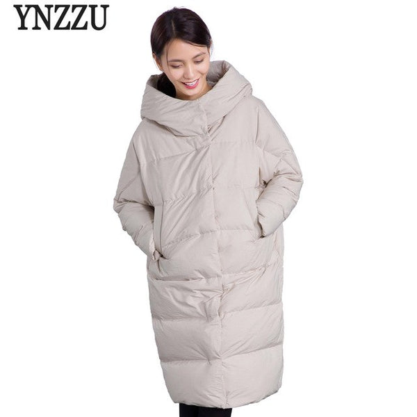 2020 Autumn Winter Jacket Women Solid Long Style Thick Warm Hooded Women's Down Jacket Windproof Loose Coat Outwears O606