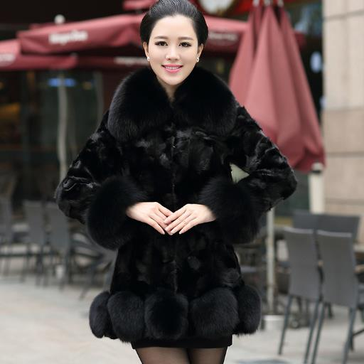 artificial fur coat Women Faux Fur Coat 2018 S-6XL Women Winter Thick Fake Fur Coats Plus Size Black Fox Fur Jackets J377
