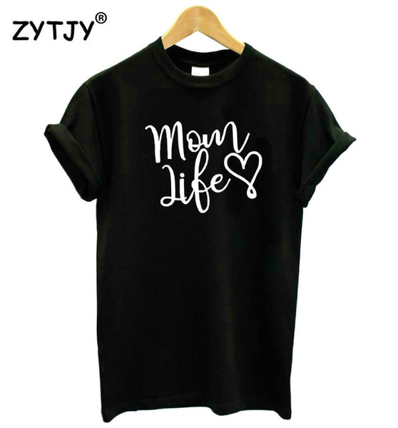 mom life heart Letters print Women tshirt Cotton Casual Funny t shirt For Lady Girl Top Tee Hipster Drop Ship SB-11