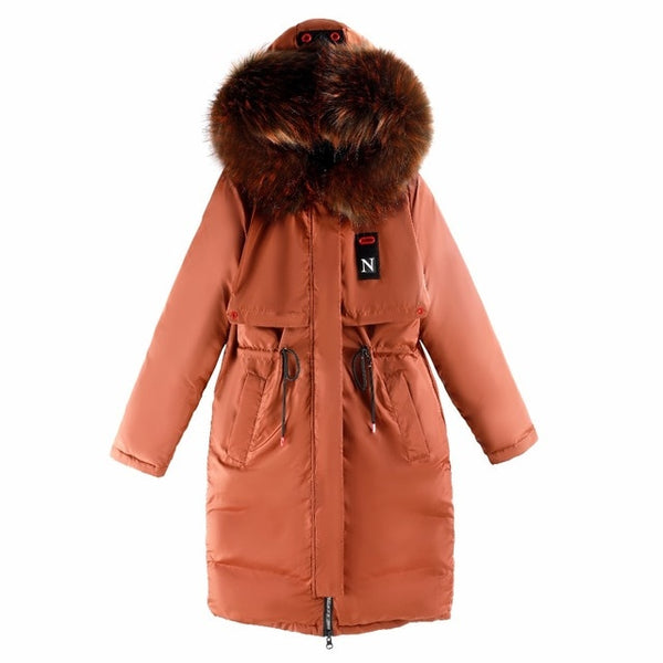 parkas mujer 2020 Thick Warm big fur hooded Long parka fashion winter jacket coat women Casual Both sides wear Coat plus size