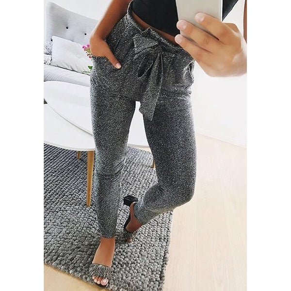 OL High Waist Harem Winter Pants Women Stringy Selvedge Casual Pants Female 2017 New Trousers Sweatpants WS3970C