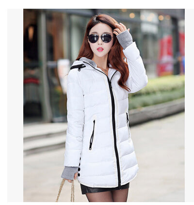 wadded jacket female 2015 new women's winter jacket down cotton jacket slim parkas ladies coat plus