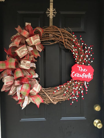 Custom Vine Christmas Wreath