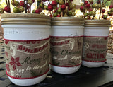Rustic Christmas Wide Mouth Mason Jars