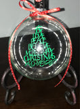 Clear Glass Christmas Ornament with Snow