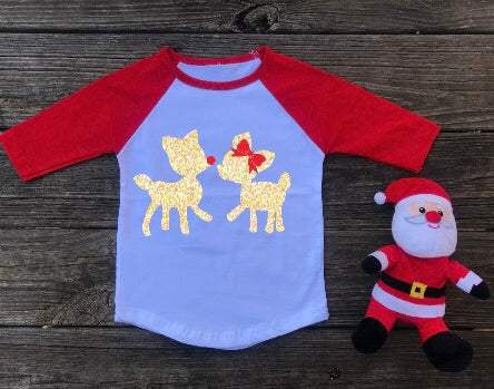 Rudolph and Prancer Toddler Christmas Shirt
