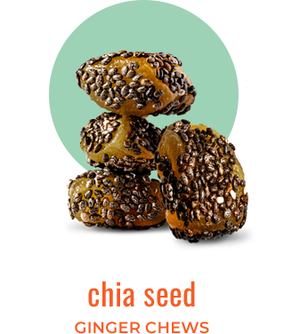 chia seed ginger chews