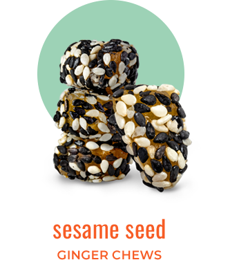 sesame seed ginger chews