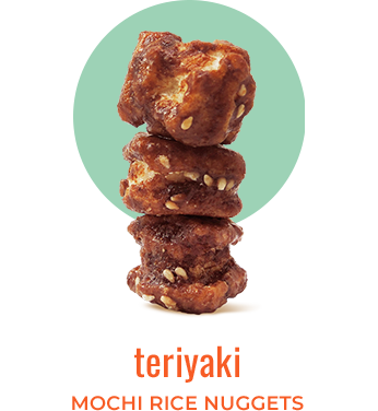 teriyaki mochi rice nuggets