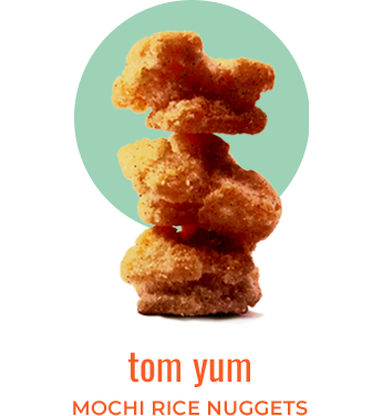 tom yum mochi rice nuggets