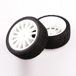 L6004 RALLY TIRE SET  mounted/ 12mm/ 2pcs/SET<br><br><font size=2> (For EMB-WRC, EMB-TC)</font>