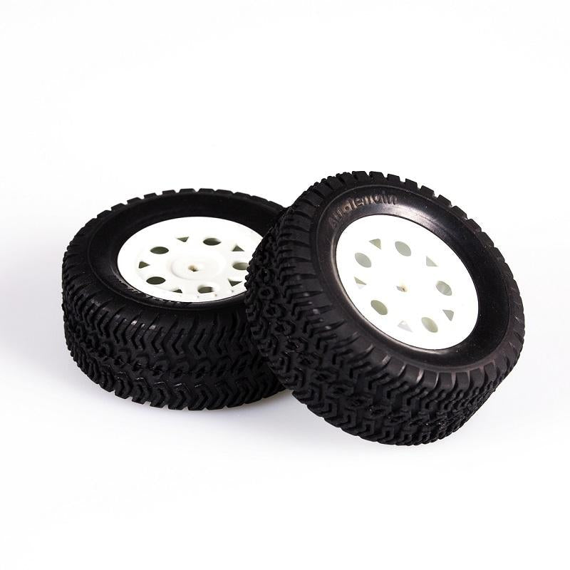 L6205 DT/SC TIRE  SET - WHITE  mounted/ 12mm/ 2pcs/SET<br><br><font size=2> (For EMB-DT, EMB-SC)</font>