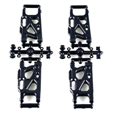 L6212 SUSPENSION ARMS HARD SET<br><br><font size=2> (For EMB-WRC, EMB-1, EMB-SC, EMB-DT, EMB-TG, EMB-MT, LC12B1)</font>