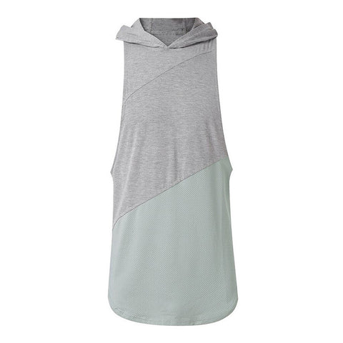 Hooded Cotton Stitching Vest for Men