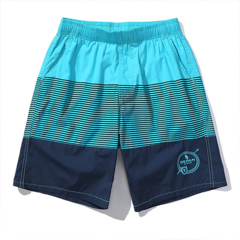 Men's Striped Loose Cotton Shorts for Holiday & Beach