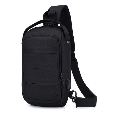 Men's Shoulder Bag with USB Charging Portability