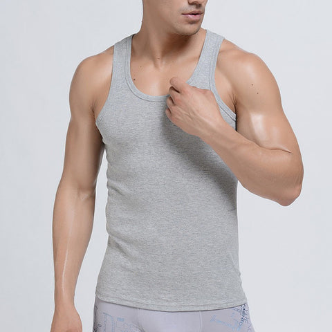 Round Neck Plain Cotton Vest for Men Pack of 3