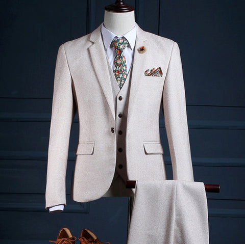 Men's Dress Three-piece Suit