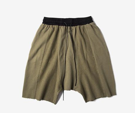 Men's Loose Front and Back Stitching Shorts