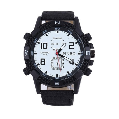 Multi-Functionality Sub-Dials Waterproof Wrist Watch For Men