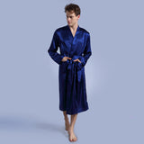 Men's Solid Color Loose Large Size Robe
