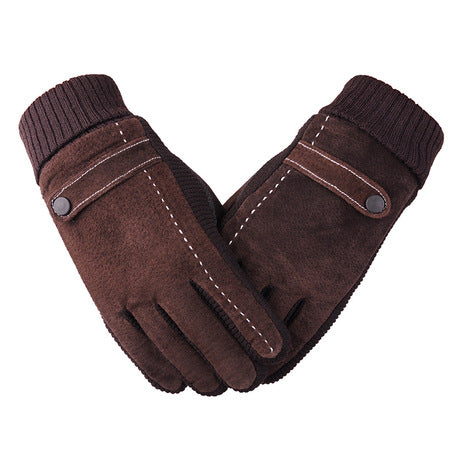 Men's Warm Pigskin Gloves