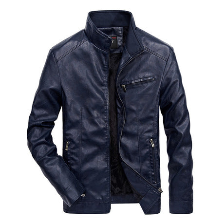 Men's Slim-fit Lightweight Pu Leather Jacket