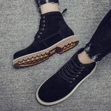 Men's High-top Leather Shoes