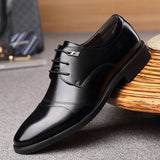 Men's Leather Pointed Boots