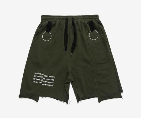 Men's Loose Irregular Cut Shorts