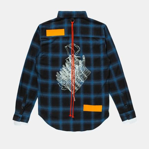 Men's Printed Plaid Shirt