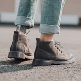 Men's Leather Round Ankle Boots