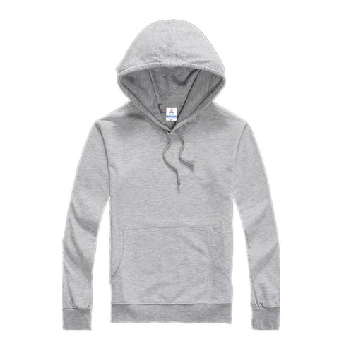 Men's Casual Solid Color Long-sleeved Hoodies