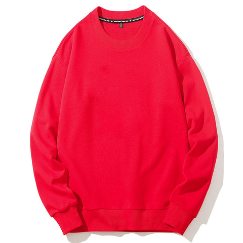 Men's Round Neck Solid Color Sweater