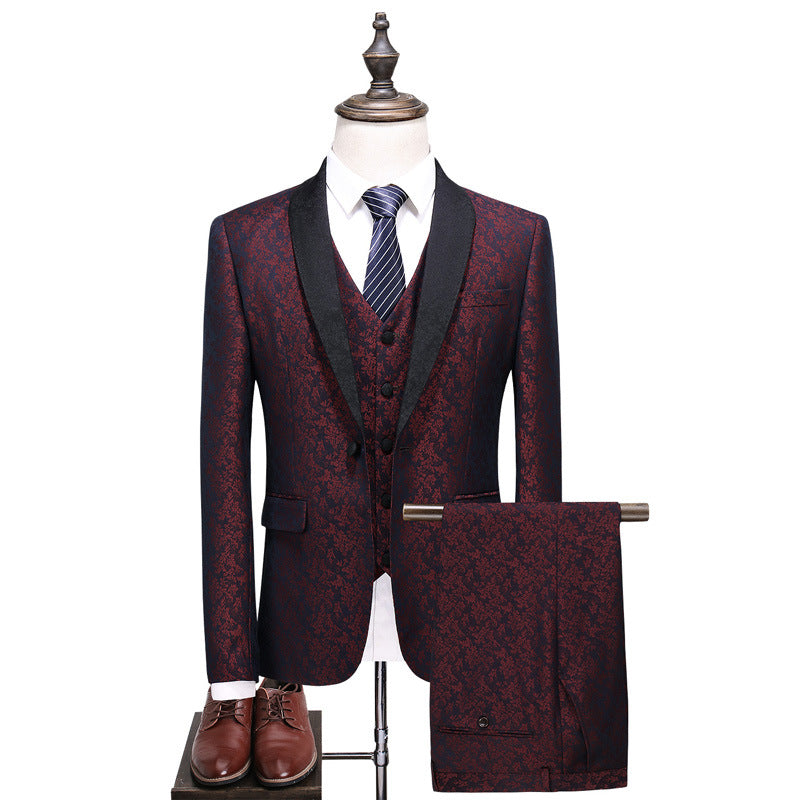 Men's Slim Three-piece Suit
