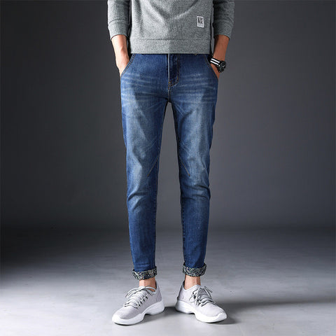 Men's Casual High Straight Slim Fit Skinny Jeans