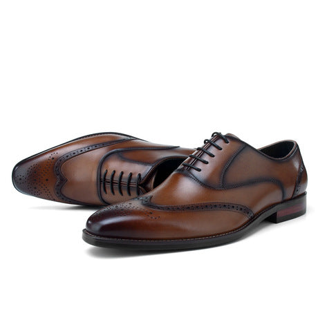 Men's Leather Square Shoes