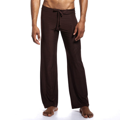 Solid Color Bandwidth Pine Silk Nylon Trousers