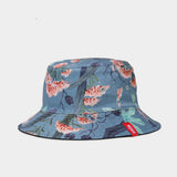 Men's Double-sided Printed Flower Pot Cap
